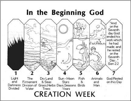 resultado de imagen de coloring pages to make creation bible