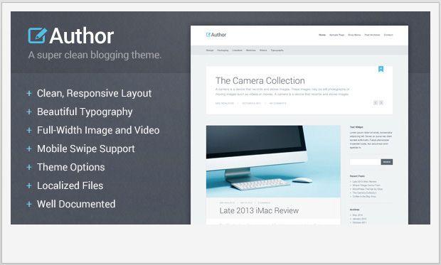 WordPress Themes for Writers, Authors | Fashionable | Pinterest ...