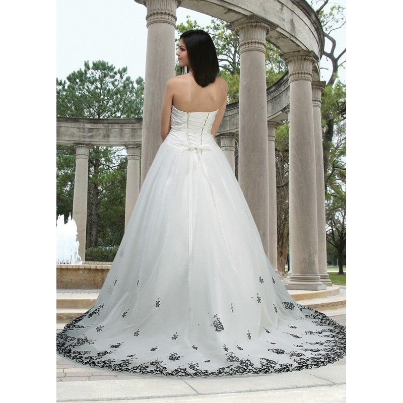 wedding dresses with black accents - Google Search | wedding ...