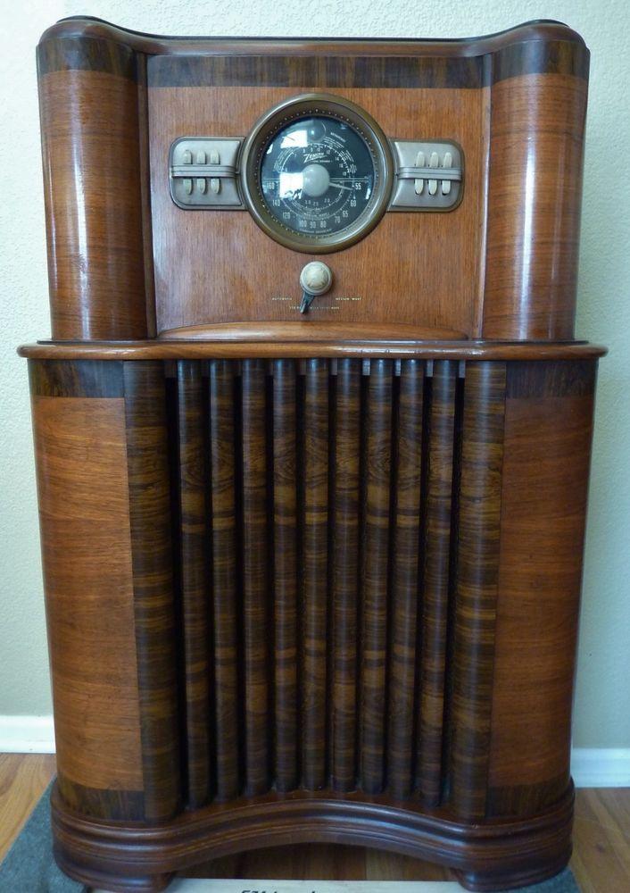 Vintage 1940 Zenith Model 8 S 463 Console Radio Excellent Condition Antique Antique Radio Radio Old Radios