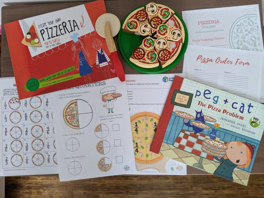Pizza Fractions Kids Entrepreneur Pizzeria In With