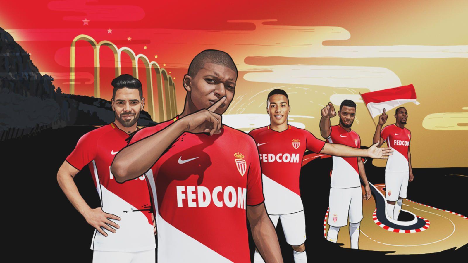 AS Monaco Home Kit 2017-2018 | As monaco, Soccer jersey, Soccer