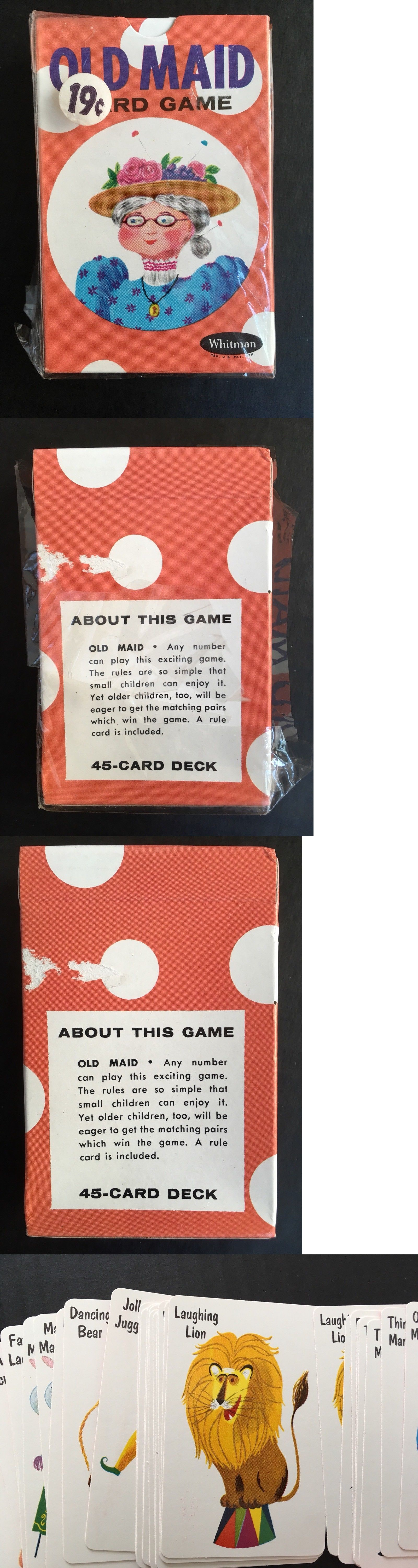 Card games 165968 vintage whitman old maid cards circus