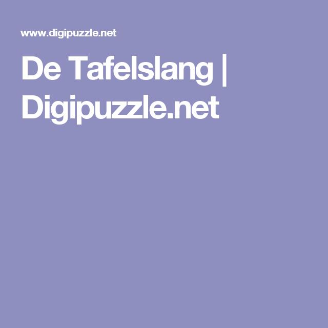 De Tafelslang | Digipuzzle.net