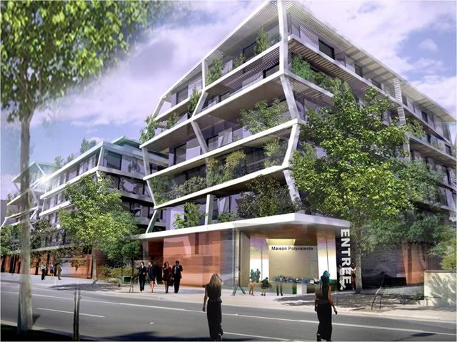Eco quartier bordeaux recherche google architecture for Facade immeuble contemporain