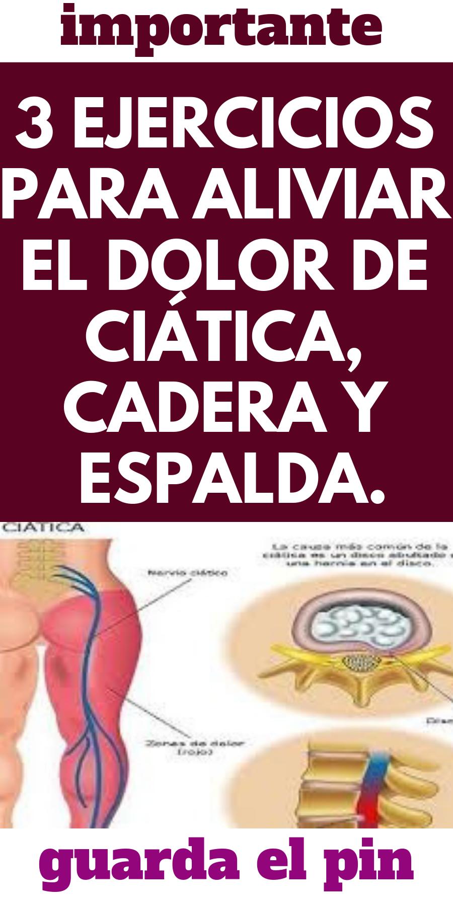 ejercicios para aliviar el dolor del ciatico