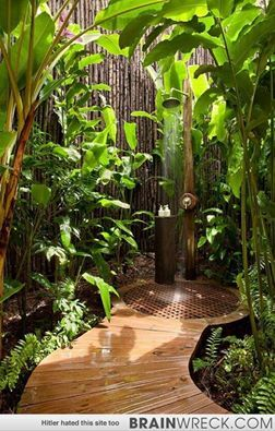 What a beautiful shower. I would build an addition off of the master bedroom to accommodate this as a master bath.
