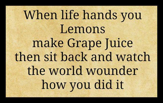 Sign Plaque when life give\'s you lemons by SindyOriginalDecor | Home ...