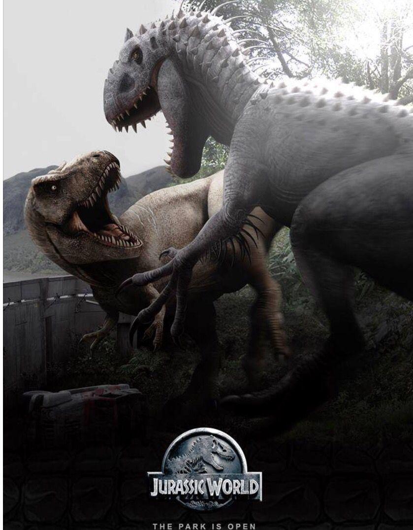D Rex Vs T Rex Jurassic World Poster Jurassic World Dinosaurs