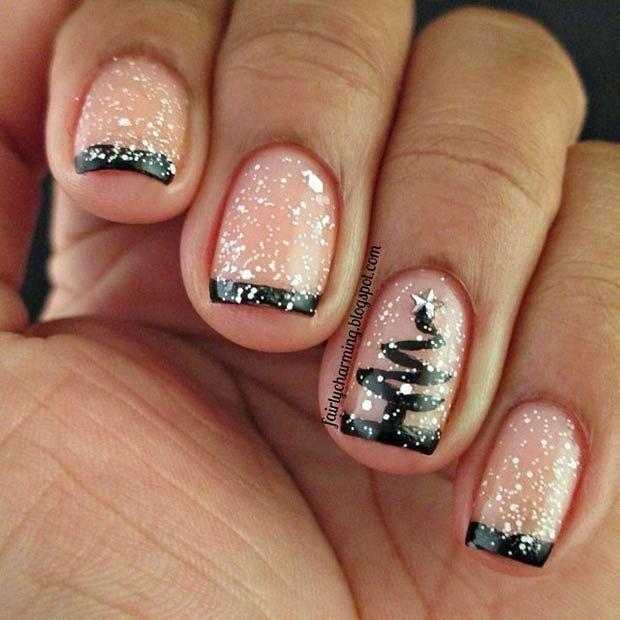 Elegant Christmas Nail Art: Elegant Christmas Nails #manicure #holidays