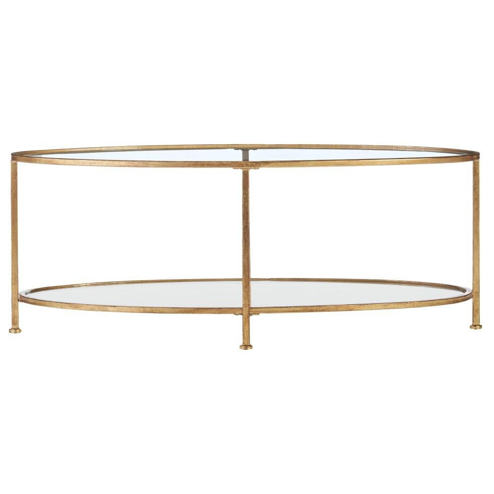 Bella Aged Oval Glass Coffee Table Gold Coffee Table Glass Coffee Table [ jpg ]