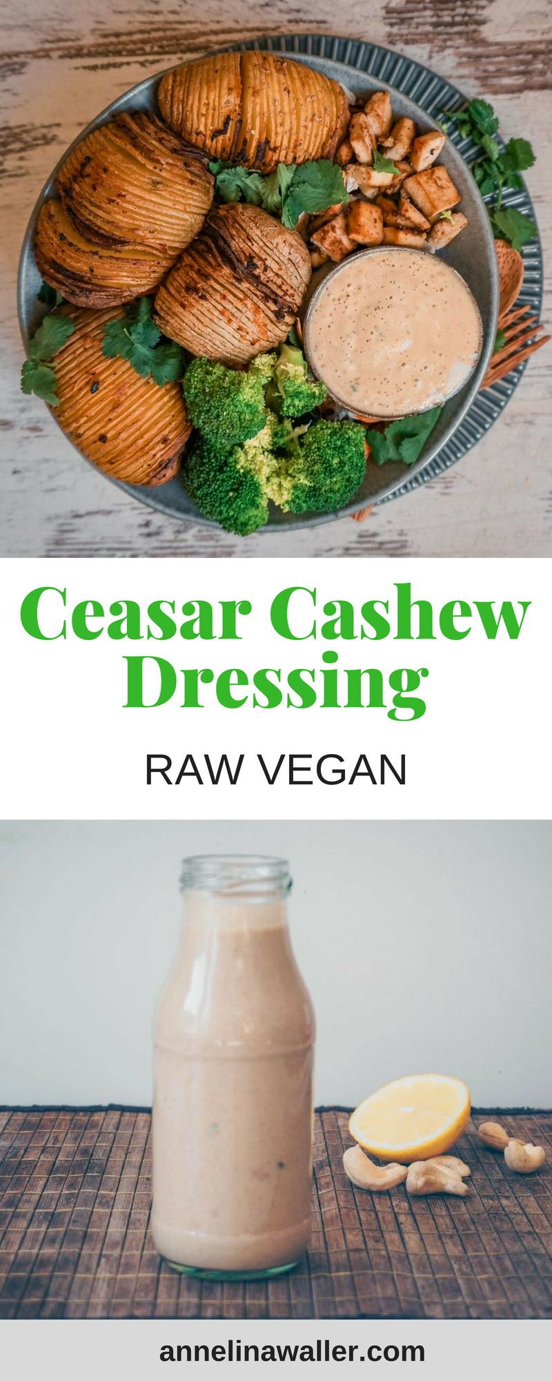 Creamy Cesar Cashew Dressing Raw Vegan Rezept Vegane Rezepte Vegane Rezepte Abnehmen Und Vegane Rezepte Einfach