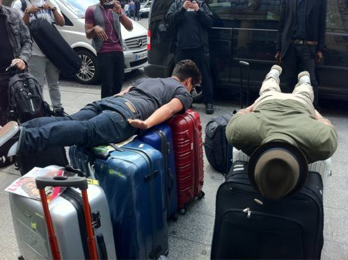 Bruno Mars and Phil Lawrence...planking. I can't handle how funny they are.
