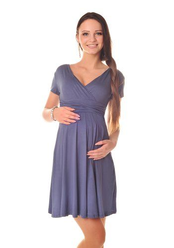 f4c4c01892b09 Purpless Maternity Short Sleeve Summer Pregnancy Dress 8417 Variety of  Colours at Amazon Women's Clothing store: