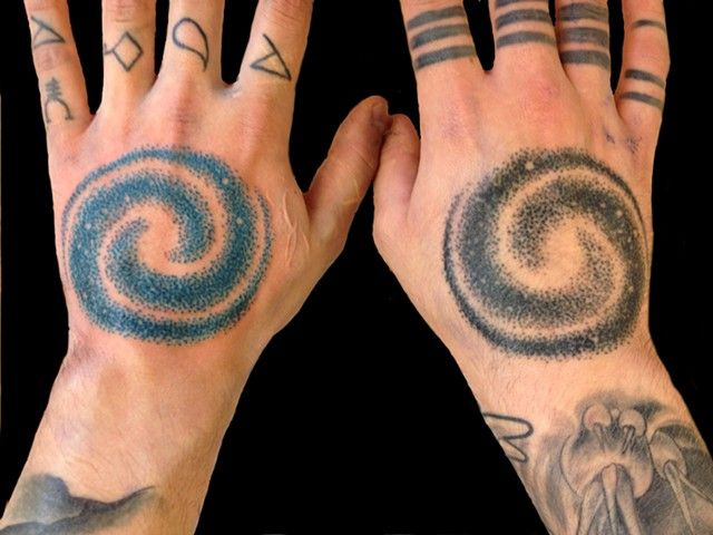 Spiral Galaxy Tattoo Designs