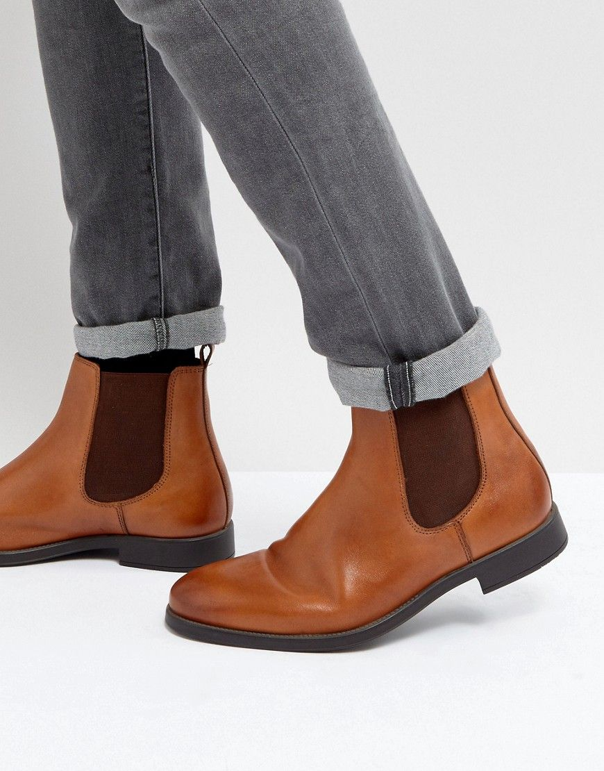 ea1506748bdb10 DUNE CHELSEA BOOTS IN TAN LEATHER - TAN.  dune  shoes