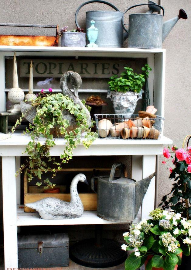 Reflections from a Summer Garden #garden #potting #bench