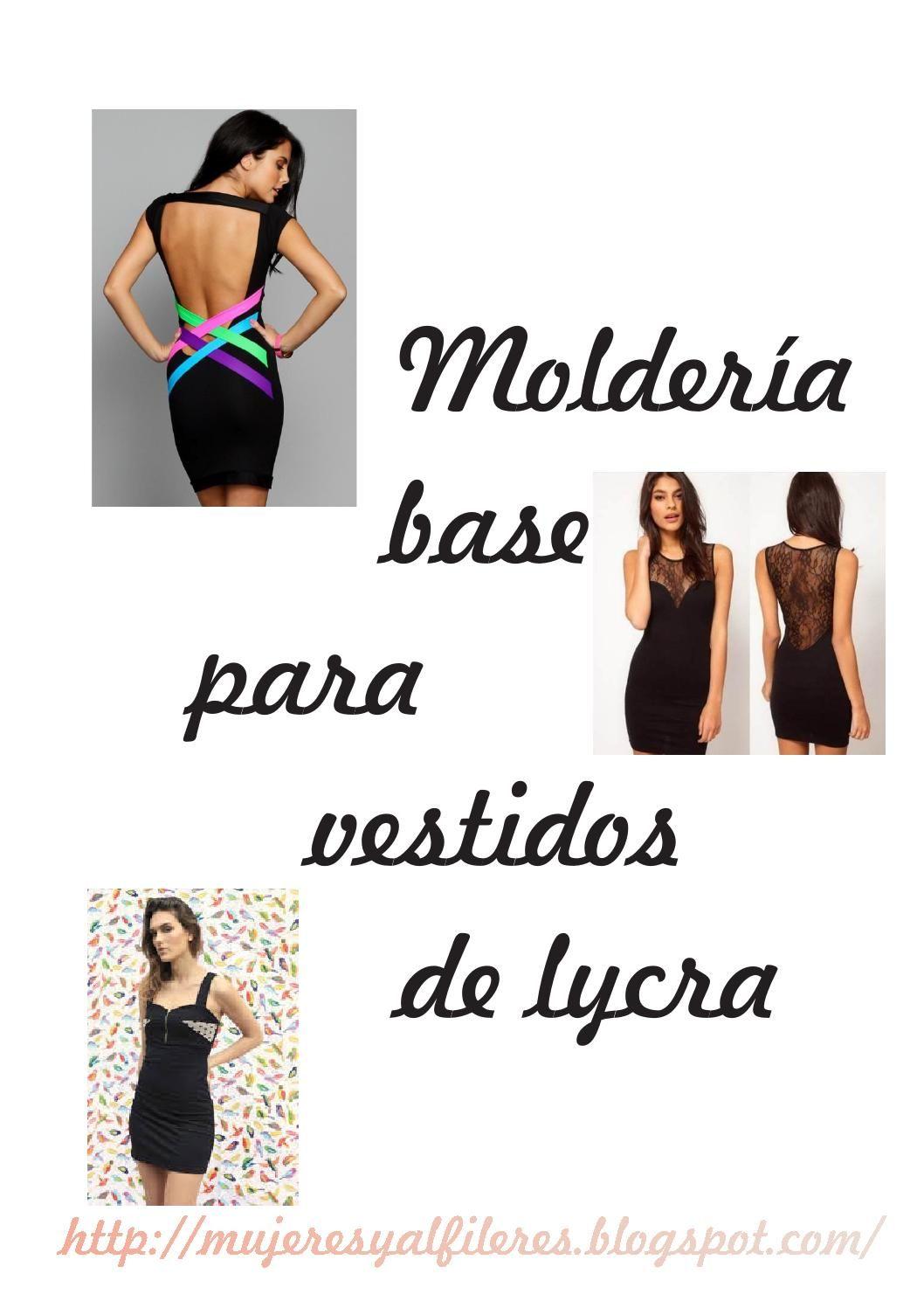 Base vestido lycra | costuras | Pinterest | Vestidos de licra ...