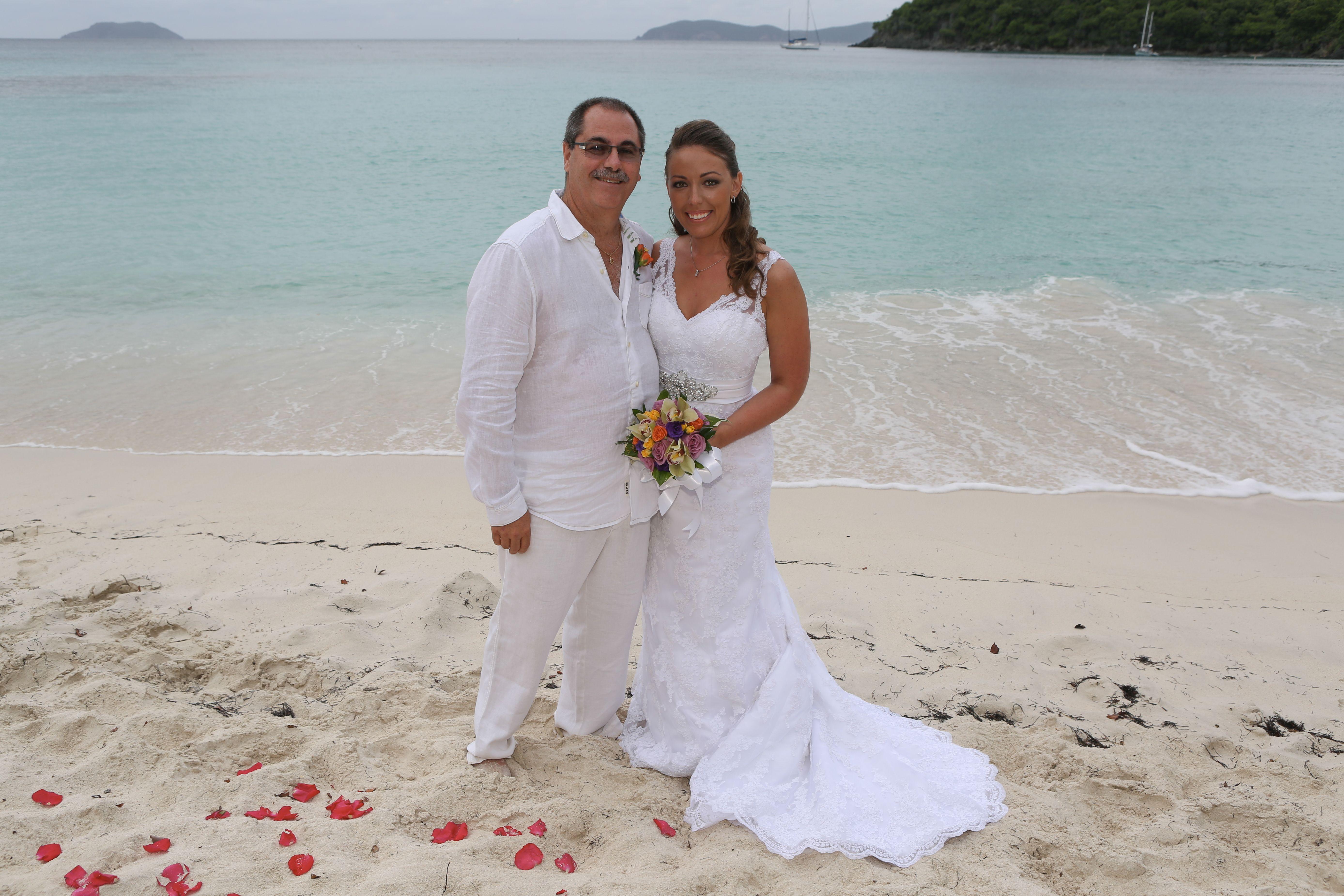 Destination wedding planner st john usvi beach wedding