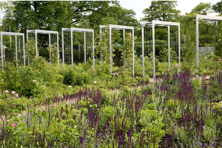 An Instant Garden Walkway, Courtesy Of A Swedish Pergola