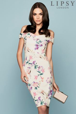 Buy Lipsy Floral Bardot Strap Bodycon from the Next UK online shop ...