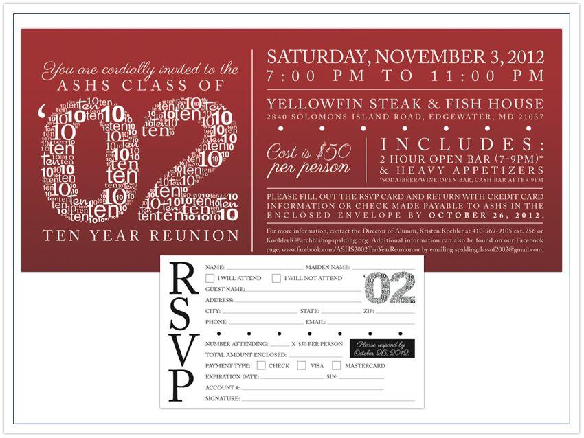 high school reunion invitation | High School Reunion Invites ...