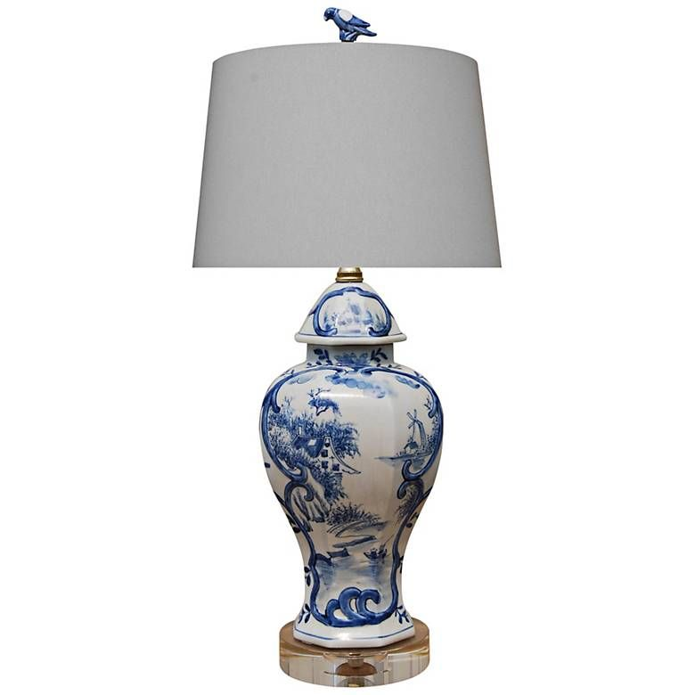 Marie Blue And White Porcelain Urn Accent Table Lamp 61y18 Lamps Plus Table Lamp Lamp Porcelain Decor