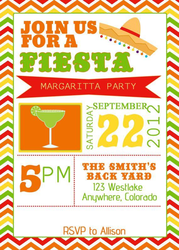 fiesta party invitation  invite birthday by