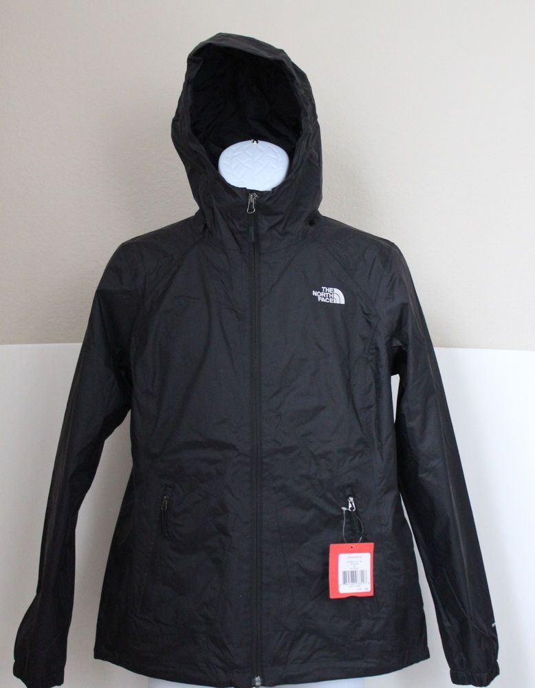 d14148e12 The North Face Women's Boreal Hooded Rain Jacket DryVent Black Size ...