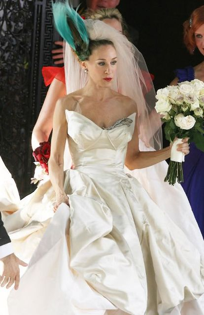 Sarah Jessica Parker As Carrie Bradshaw Of The And City Movie In A Vivienne Wedding Dresscarrie