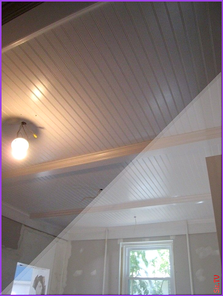 White Vinyl Beadboard Ceiling Panels For Family Room With Soothing Lighting How Beadboard Ceilin In 2020 Ceiling Panels Beadboard Ceiling Panels Beadboard Ceiling