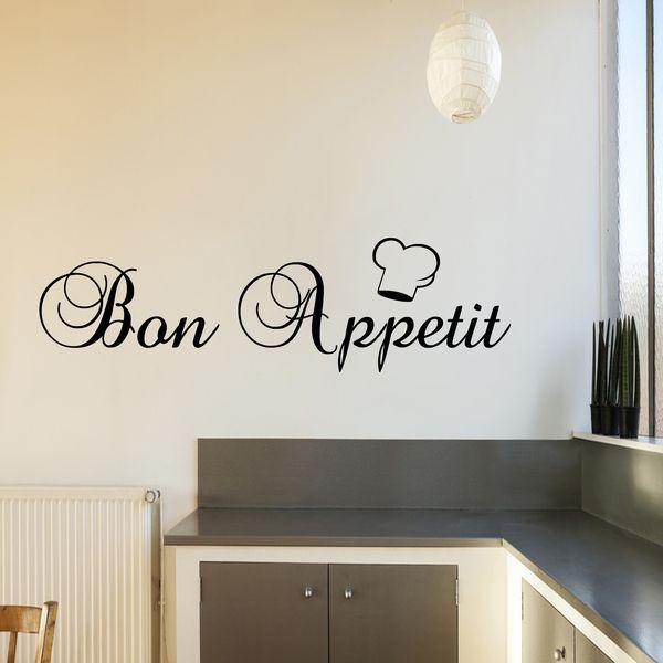 Bon Appetit Autocollant Sticker Mural En De G Direct Sur Dawanda