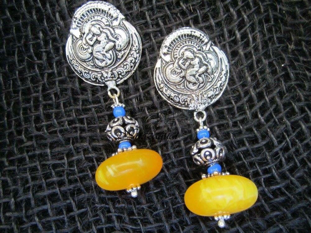 Tribal Goddess earrings by Nnazaquat  Rs 490