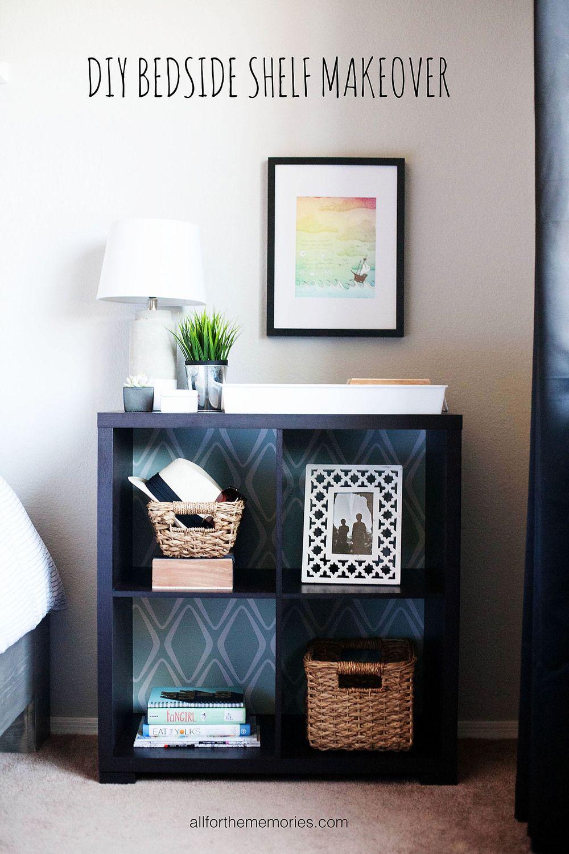 I LOVE how Allison Waken transformed this bookshelf into