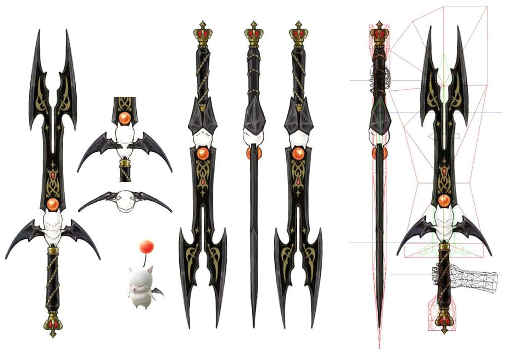 Moogle Sword From Final Fantasy Xiv A Realm Reborn Probably The