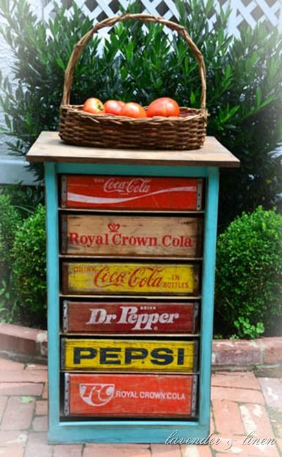 Lavender and Linen ~ DIY Vintage Soda Crate Chest