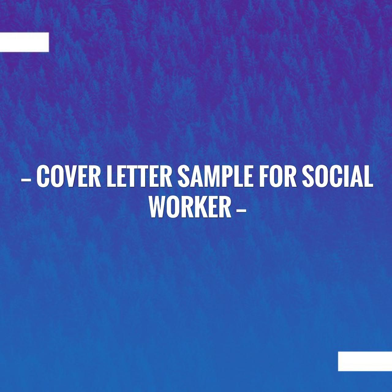 Check out my new post! Cover Letter Sample for Social