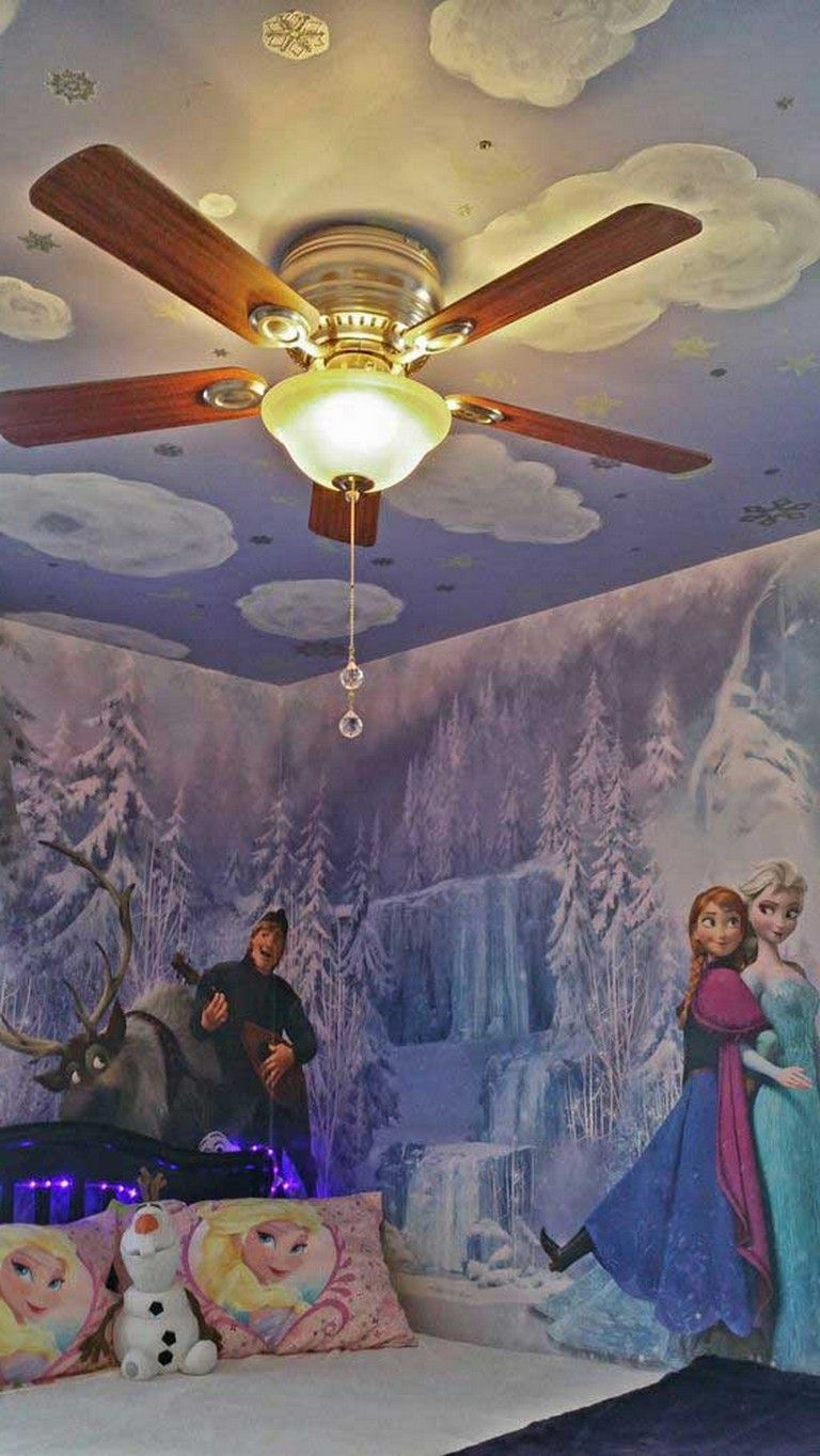 15 Lovely Frozen Themed Room Decor Ideas Your Kids Will Love Frozen Themed Roomdecorideas Frozen Bedroom Frozen Room Room Themes