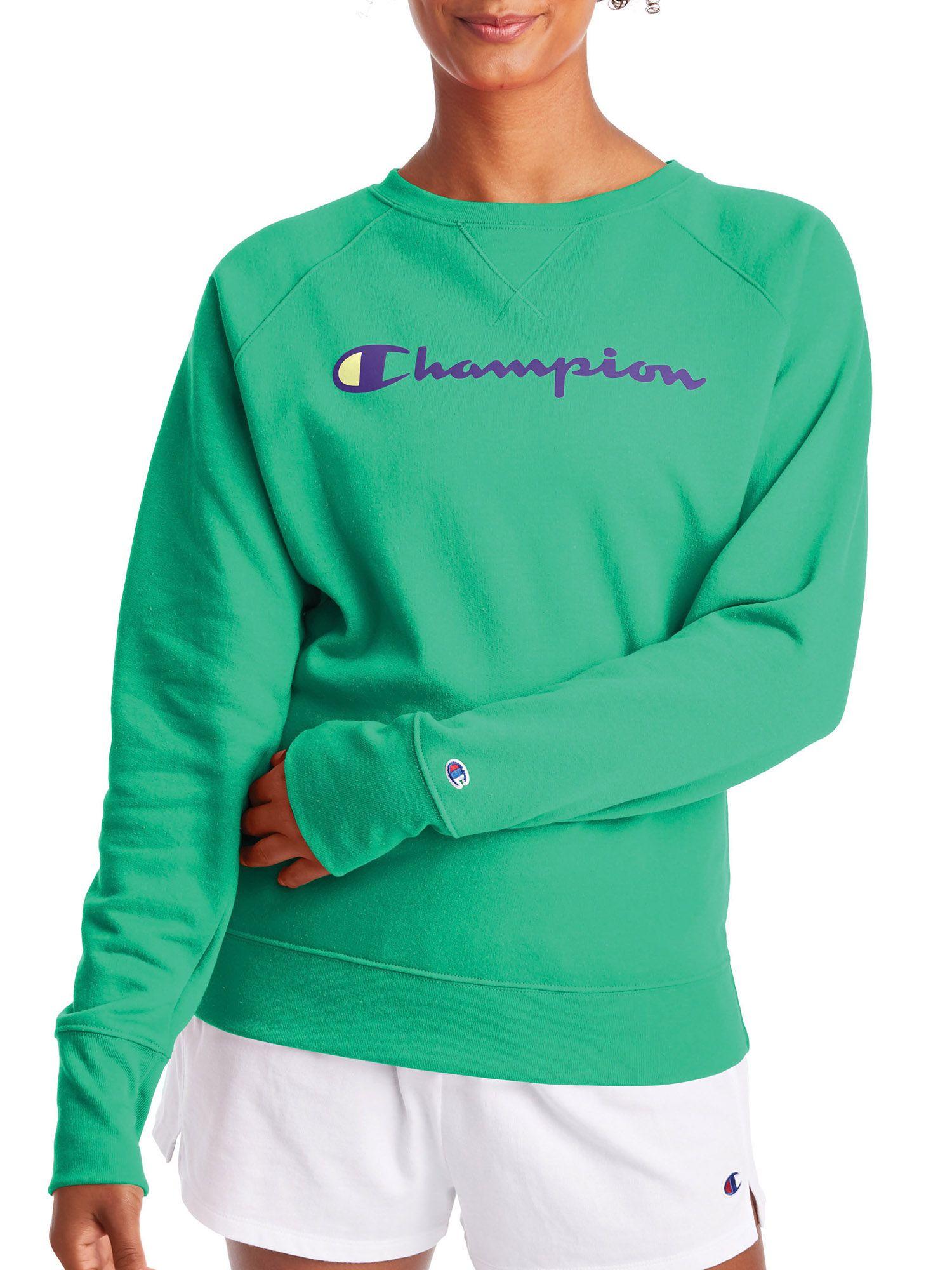 Champion Champion Women S Powerblend Graphic Fleece Boyfriend Crewneck Sweatshirt Walmart Com Sweatshirts Crew Neck Sweatshirt Champion Clothing [ 2000 x 1500 Pixel ]