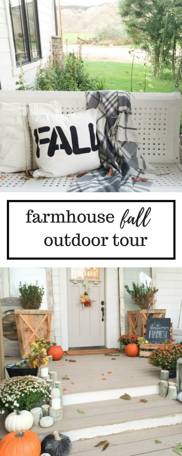 This farmhouse fall garden tour is amazing! | Bloggers\' Best DIY ...