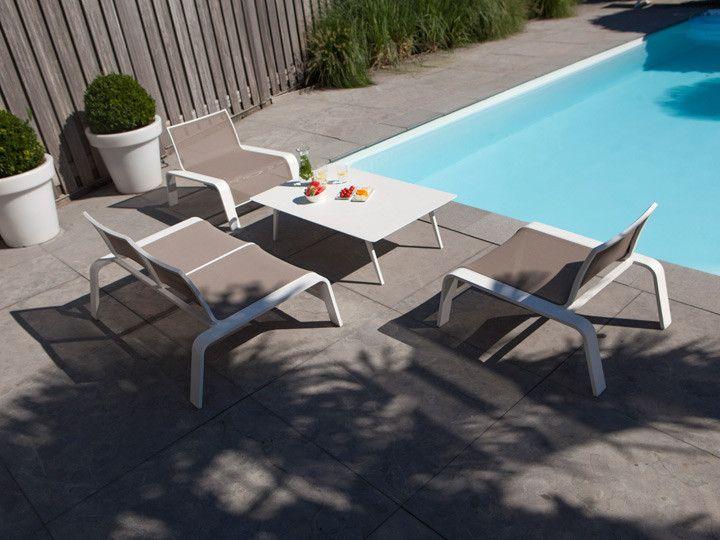 Ezee Garten Lounge Alu Weiss #Garten #Gartenmöbel #Gartensofa