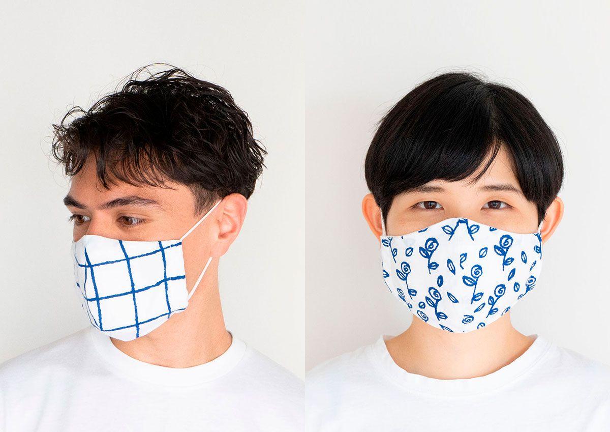 注目アーティストとコラボ いまこそ欲しい アートな手ぬぐいマスク haconiwa マスク アーティスト コラボ