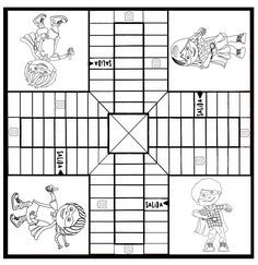 Parchis para imprimir y colorear | anime | Board Games, Games y