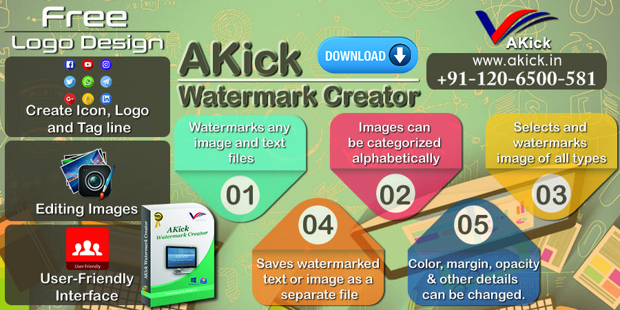 Using watermarkcreator, ultimate logos in different