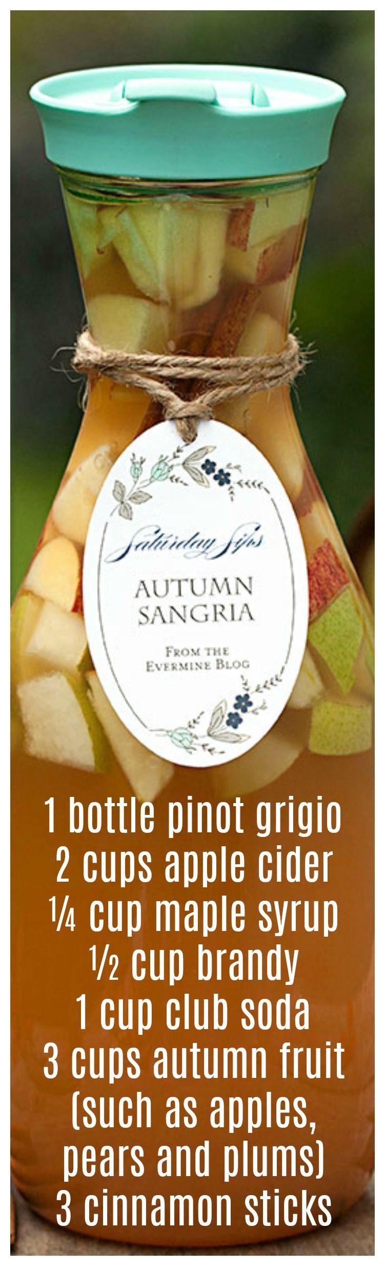 Autumn Sangria Recipe, Two Ways #applecidersangriarecipe