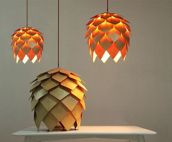 Find More Information About Modern Art Wooden Pinecone Pendant Light Homeu2026