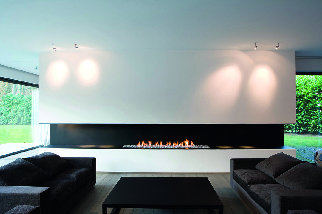 Realisaties metalfire fireplace houses pinterest for Wohnzimmer architektur