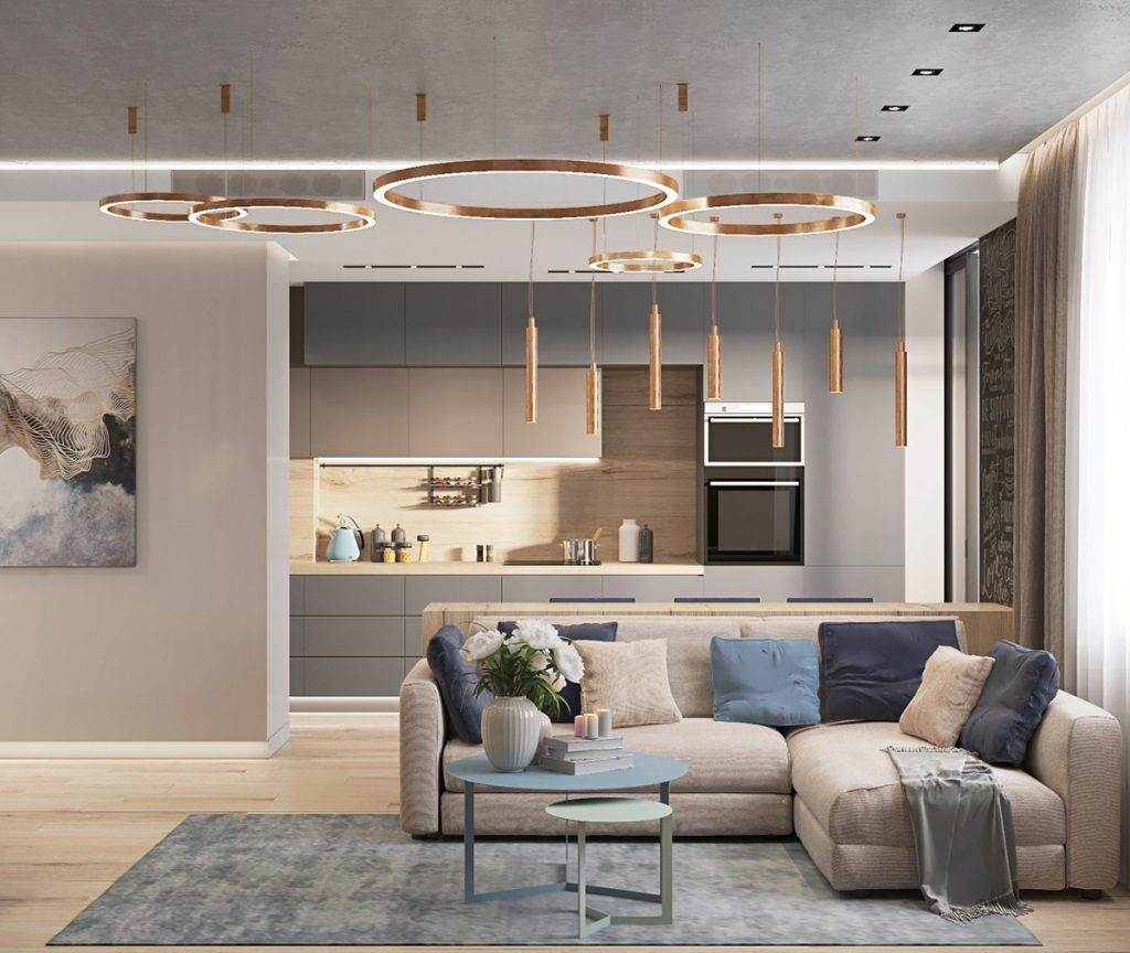 Photo of First Class Family Home With Blue, Pink And Gold Decor