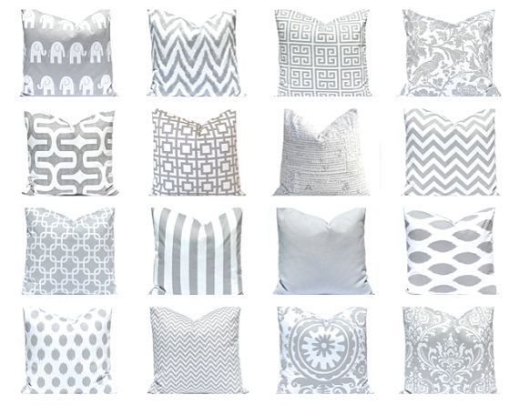 gray pillow cover gray and white throw pillow covers gray decorative pillow covers gray bedding gray cushion cover nine prints