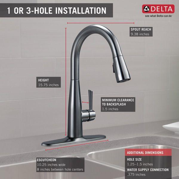 Delta 9113 Ar Dst Essa Kitchen Sink Faucet